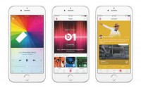 Apple Music auf drei iPhone