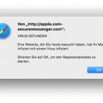 Scan-Meldung in Safari